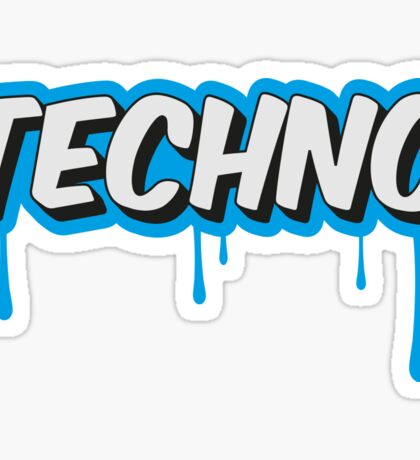 TECHNO - PARTY - RAVE - EDM Sticker