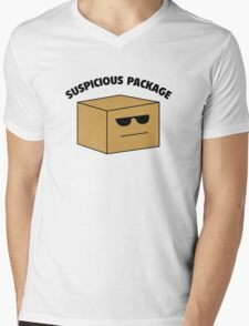 Suspicious Package Mens V-Neck T-Shirt