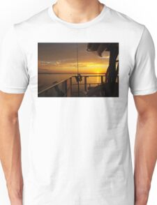 Golden Cruising Sunset. Photo Art, Print, Gift, Unisex T-Shirt