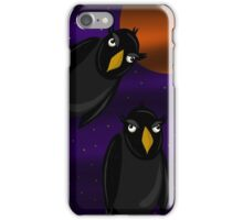 Halloween - Black ravens and bloody moon iPhone Case/Skin