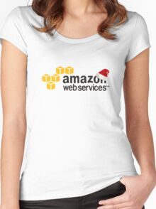 AWS Christmas Logo Women's Fitted Scoop T-Shirt