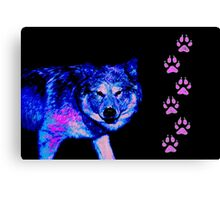 Blue Wolf Canvas Print