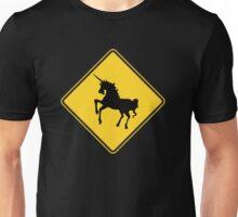 Warning Unicorns Unisex T-Shirt
