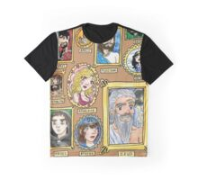 Olympus Family Portrait Watercolor Painting Graphic T-Shirt