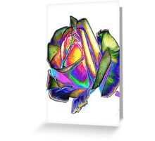 Splendiferous rose design Greeting Card