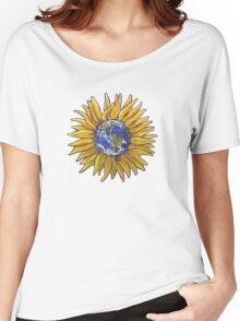 Sunflower Earth Women's Relaxed Fit T-Shirt