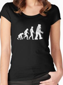 Human Evolution Variant Women's Fitted Scoop T-Shirt