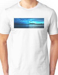 Blue Sunrise waterscape. Gosford. Photo Art. Unisex T-Shirt