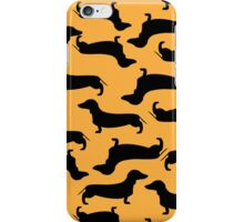 Dachund Sillhouette Gold iPhone Case/Skin
