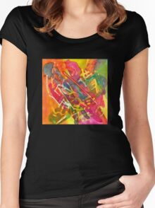 The Month Doubles Itself Twice, Watercolor by Dan Vera Women's Fitted Scoop T-Shirt