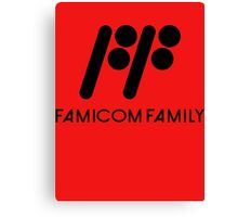 Famicom Family Canvas Print