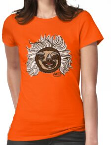 Einstein Sloth Womens Fitted T-Shirt