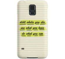 Start Where You Are Samsung Galaxy Case/Skin