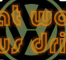 WWJD Volkswagen what would Jesus drive (cut)? Sticker