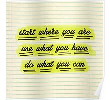 Start Where You Are Poster