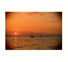 Maui Sail Boats Art Print