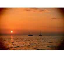 Maui Sail Boats Photographic Print