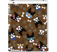 Boston Terrier Funny Faces Brown iPad Case/Skin