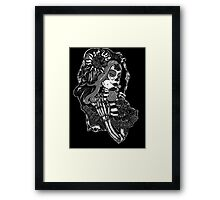 Rose Day of the Dead Woman  Framed Print
