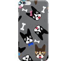 Boston Terrier Funny Faces Grey iPhone Case/Skin