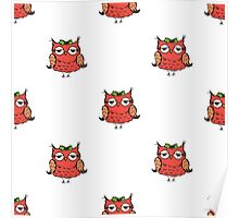 doodle owl pattern background,hand drawing  Poster