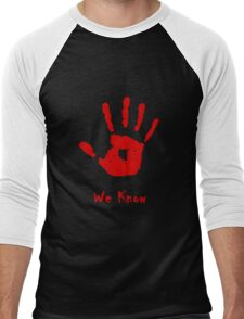 Dark Brotherhood Knows...You've been Bad! Men's Baseball ¾ T-Shirt
