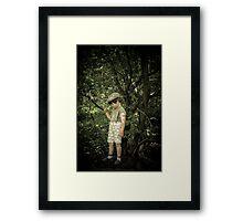 War time boy Framed Print