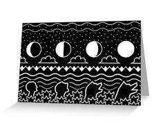 Werewolf Evolution Patterns Greeting Card