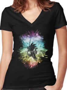 dragon storm Women's Fitted V-Neck T-Shirt