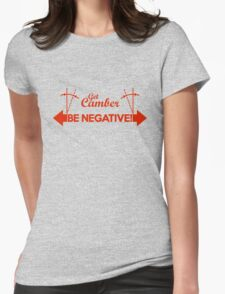 BE NEGATIVE (3) Womens Fitted T-Shirt