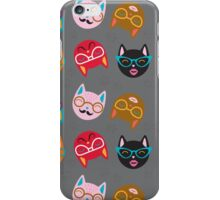 Cat Funny Faces Grey iPhone Case/Skin