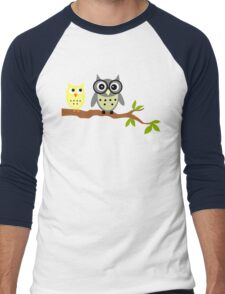 Cute Owl Sweet Nice Girl Girlfirend Modern Woman Puffy Toy Animal Design Cartoon Gift T-Shirts Men's Baseball ¾ T-Shirt