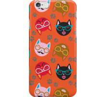 Cat Funny Faces Orange iPhone Case/Skin