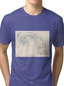Vintage Map of Lower Cape Cod Tri-blend T-Shirt