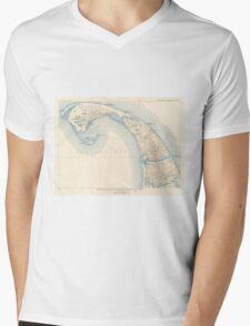Vintage Map of Lower Cape Cod Mens V-Neck T-Shirt