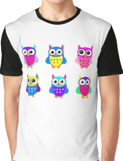 Cute Owl Sweet Nice Girl Girlfirend Modern Woman Puffy Toy Animal Design Cartoon Gift T-Shirts Graphic T-Shirt