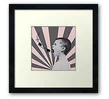 SINGING FROGS Framed Print