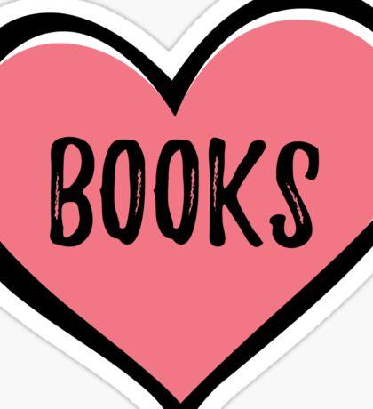 BOOKS (heart) Sticker