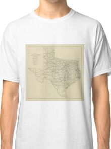 Vintage Texas Highway Map (1919) Classic T-Shirt