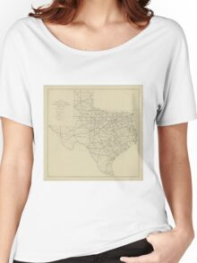 Vintage Texas Highway Map (1919) Women's Relaxed Fit T-Shirt