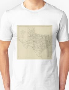 Vintage Texas Highway Map (1919) Unisex T-Shirt