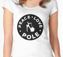 Peace, love, pole Women's Fitted Scoop T-Shirt