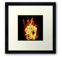 Smokin Aces Framed Print
