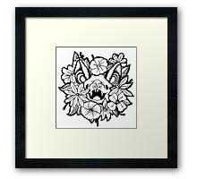 Happy Floral Bat Framed Print