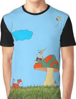 Gnome on a Toadstool Graphic T-Shirt