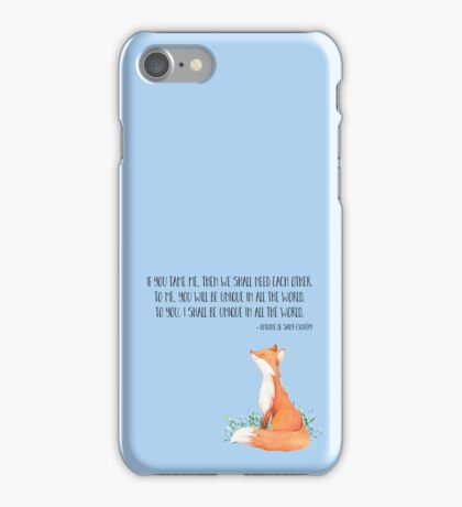 Little Prince fox quote, text art iPhone Case/Skin