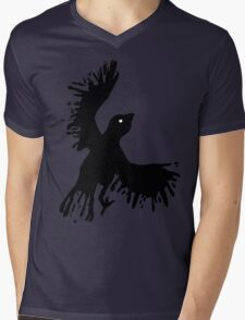 splatter bird Mens V-Neck T-Shirt