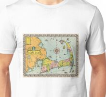 Vintage Map of Cape Cod Unisex T-Shirt