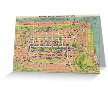 Vintage Map of Edinburgh Scotland (1935) Greeting Card