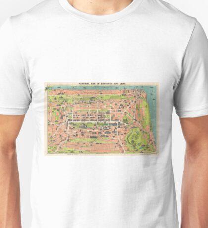 Vintage Map of Edinburgh Scotland (1935) Unisex T-Shirt